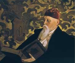 S. Roerich. Portrait of N.К. Roerich. 1934